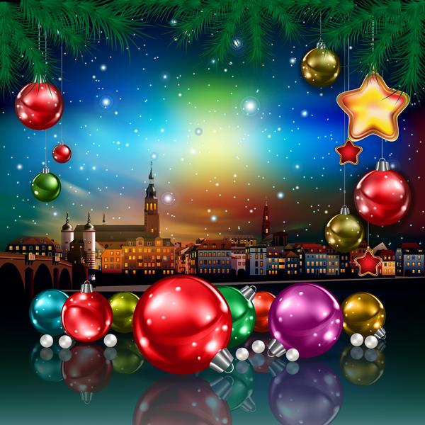 saluto panorama Natale Città carta