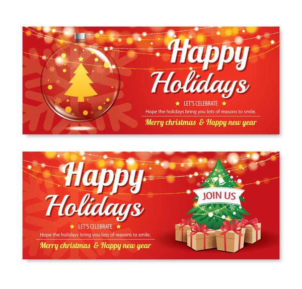 vacances rouge Noel des bannières