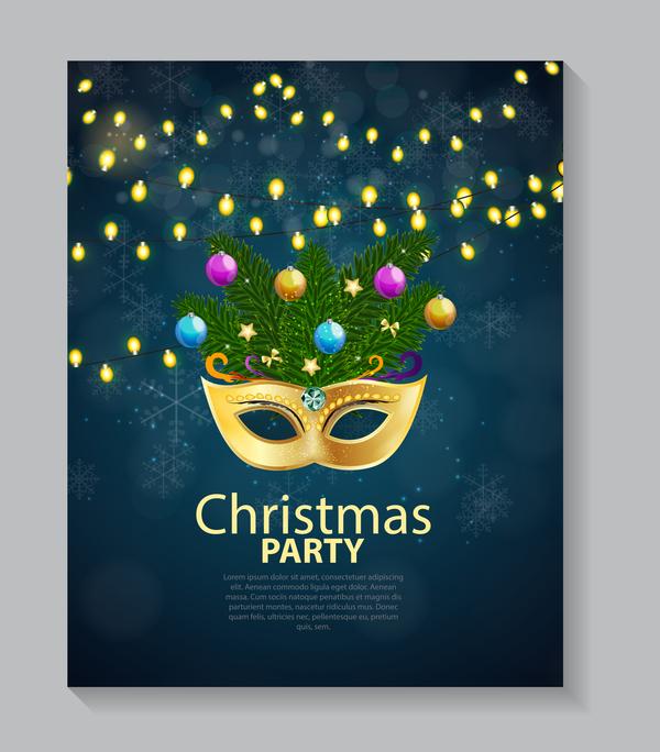 、パンフレット、クリスマス、カバー、チラシ、パーティー