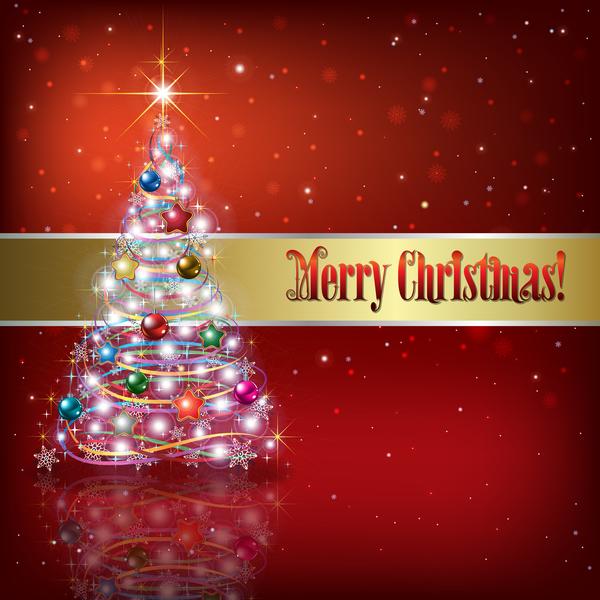 träd rod jul dekorationer