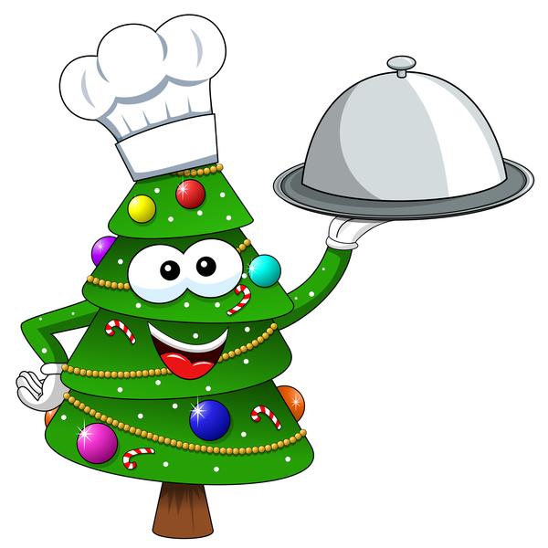 Weihnachten Kochen cartoon Baum