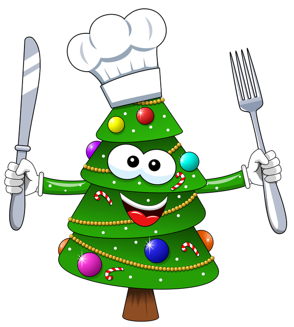träd tecknad laga mat jul