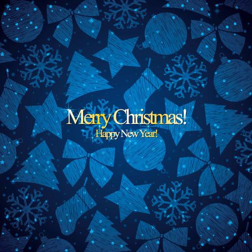 Weihnachten new Muster Jahr blau