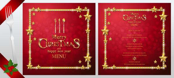 rosso Nuovo Natale menu anno