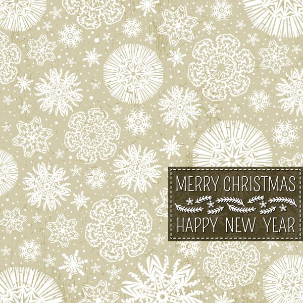 senza soluzione di continuità Nuovo neve Natale modello anno