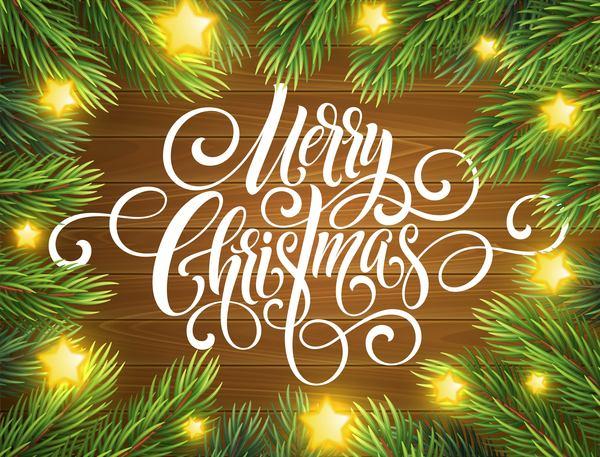 trä stjärnor shiny jul