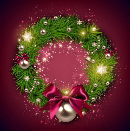 pourpre guirlande de Noël