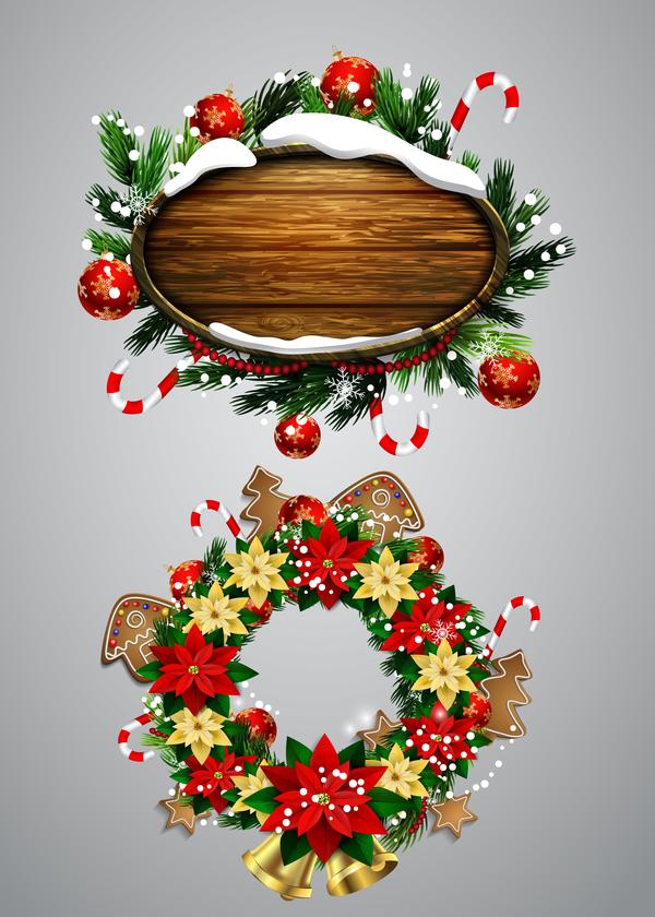 Noel guirlandes en bois étiquettes