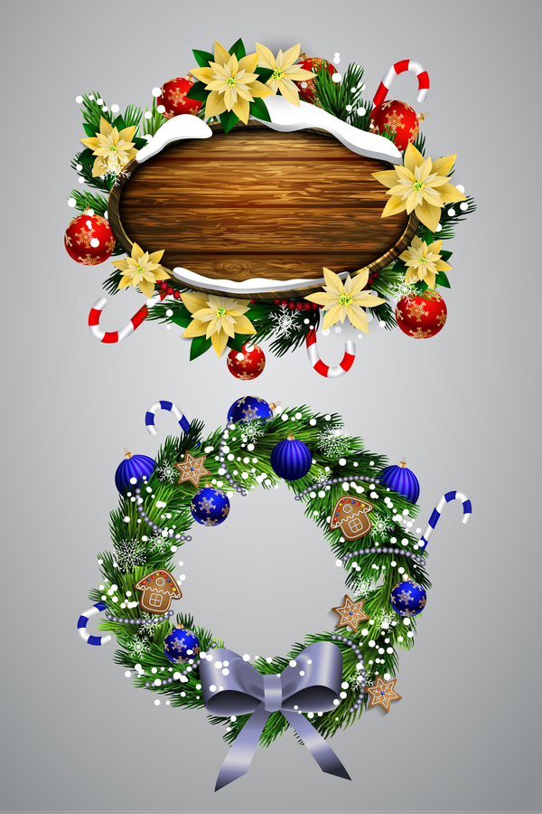 trä kransar jul etiketter