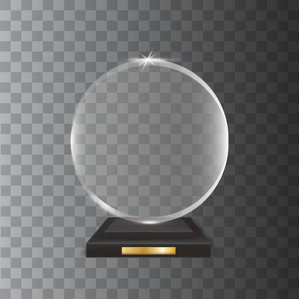 vetro Trofeo Premio cerchio acrilico