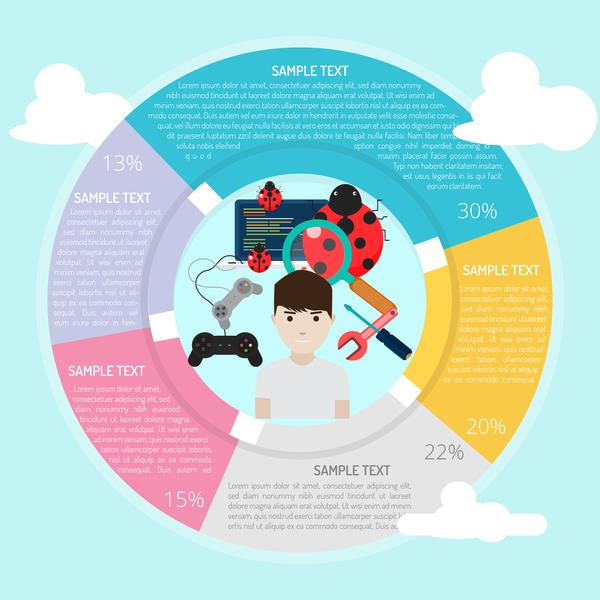 infographie cercle cadre