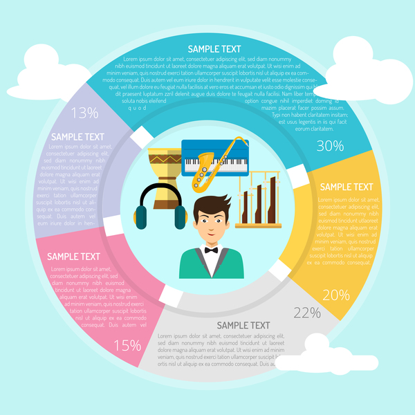 infografica cornice cerchio