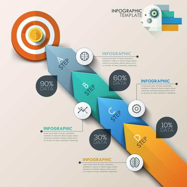 target ruota infografica cerchio