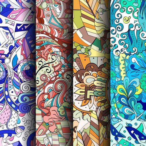 sans soudure motif colore classique