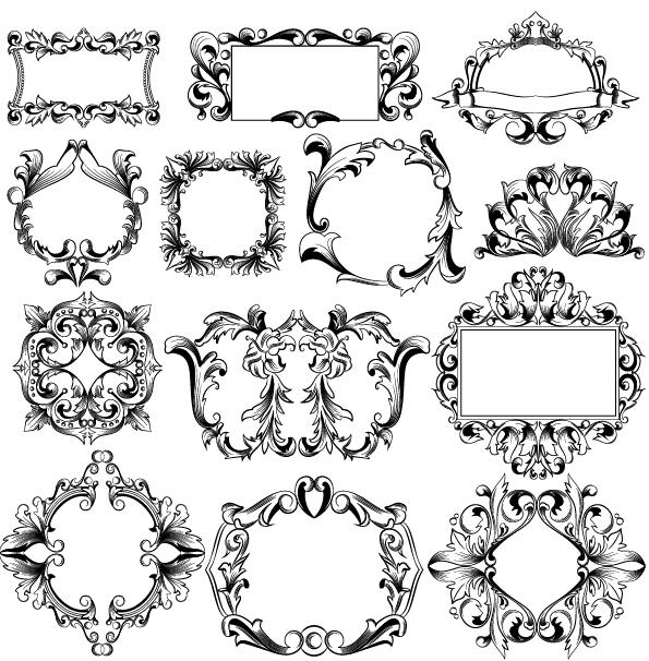 ornaments frame classical