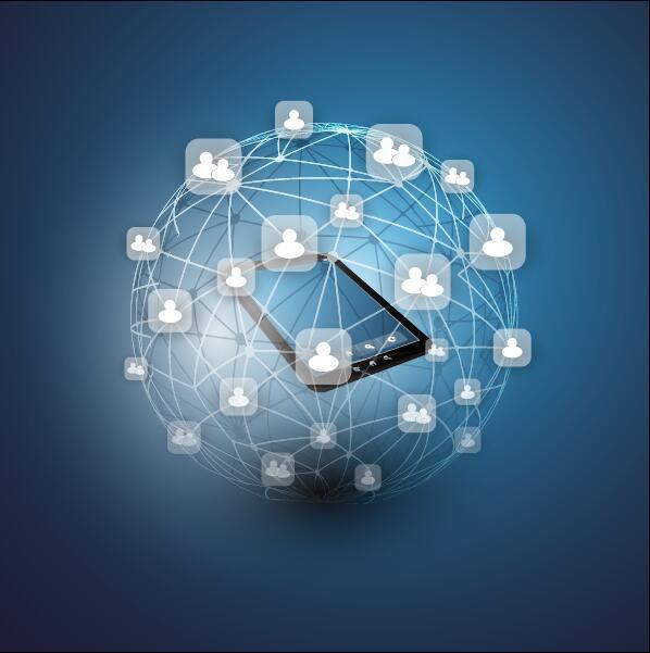 Verksamhet nätverk molnet dator