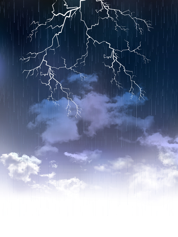 rain lightning clouds