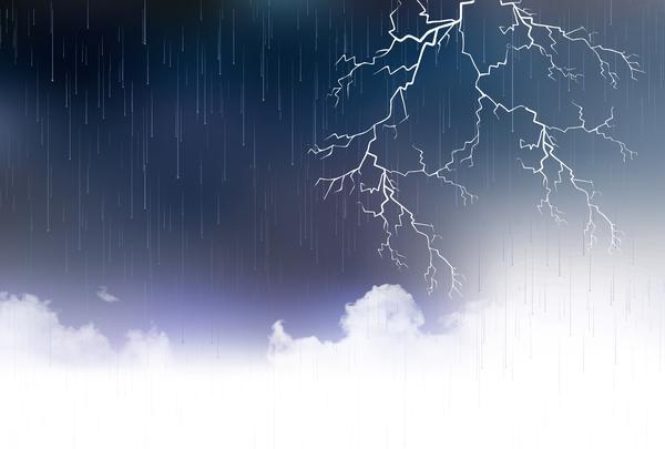 regn Moln åska