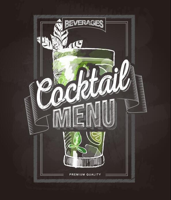 täcka meny Krita cocktail chalkboard