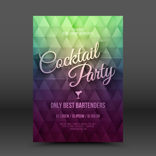 party flyer cocktail
