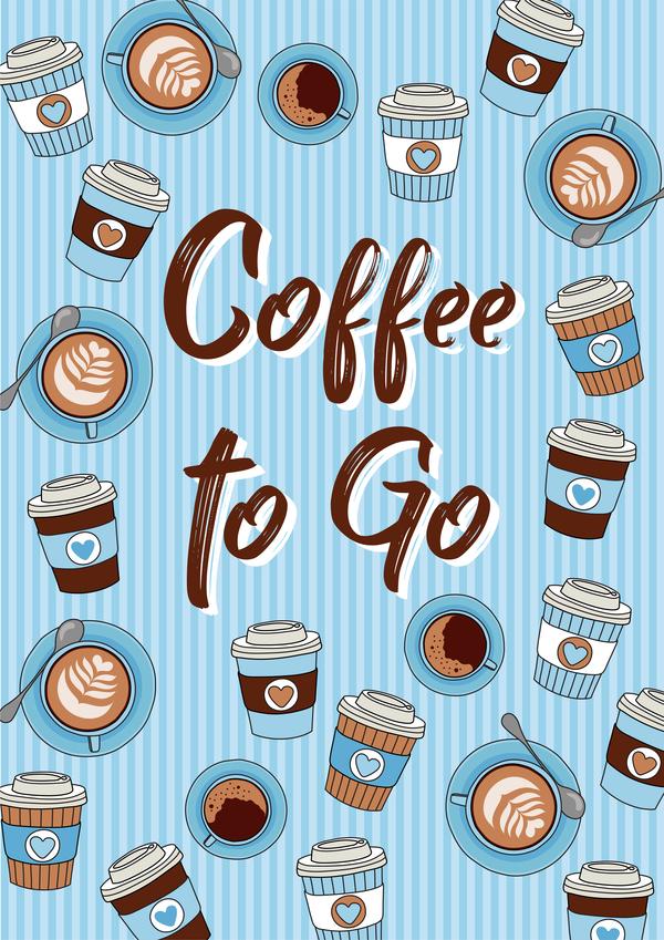 sömlösa papper monster koppar kopp kaffe