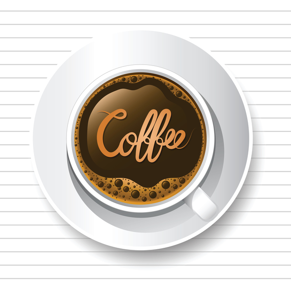 Tazza tavolo caffe bianco
