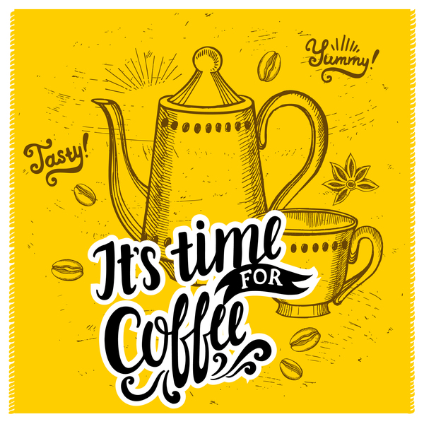 yellow poster coffee