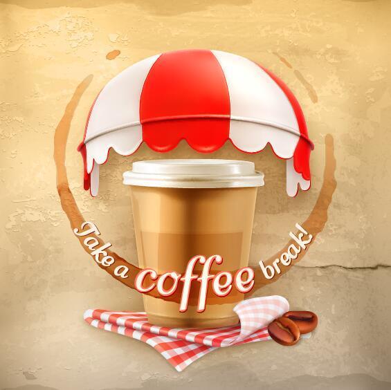 vecchio muro di caffè