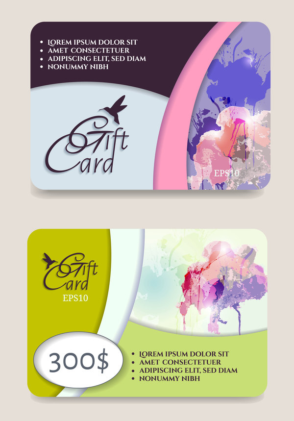 voucher gift collection cards