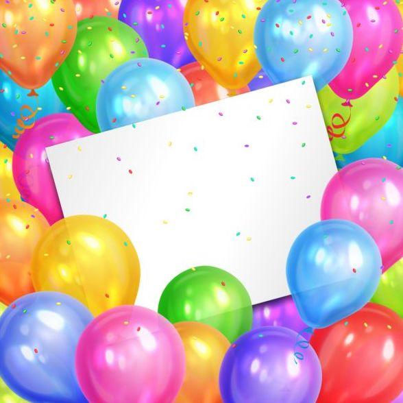 誕生日 色 バルーン カード