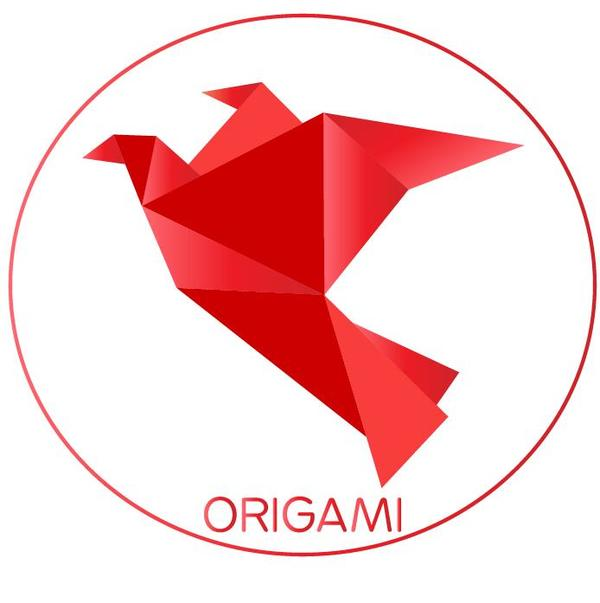 origami Färg Fågel