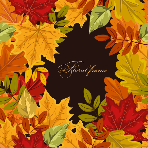 l'automne feuilles de couleur cadre