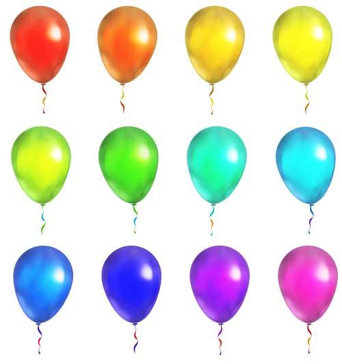 farbig ballon