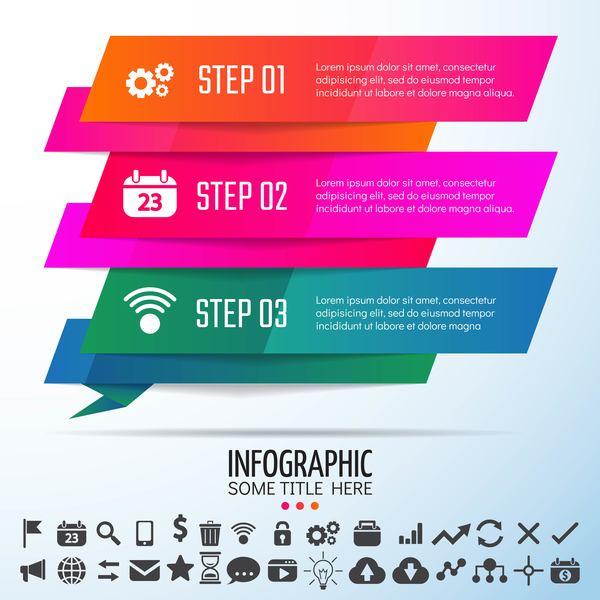 infografica colorato banner