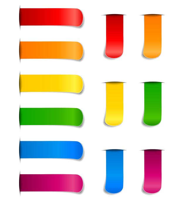 Lesezeichen farbig Aufkleber