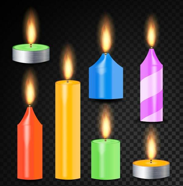 colored candle