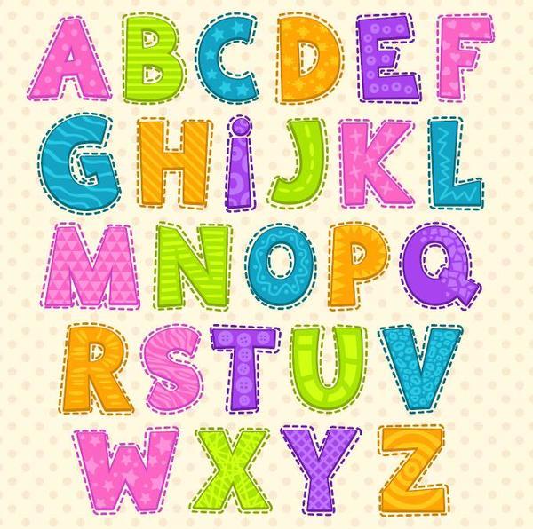 colorato carino Alfabeto