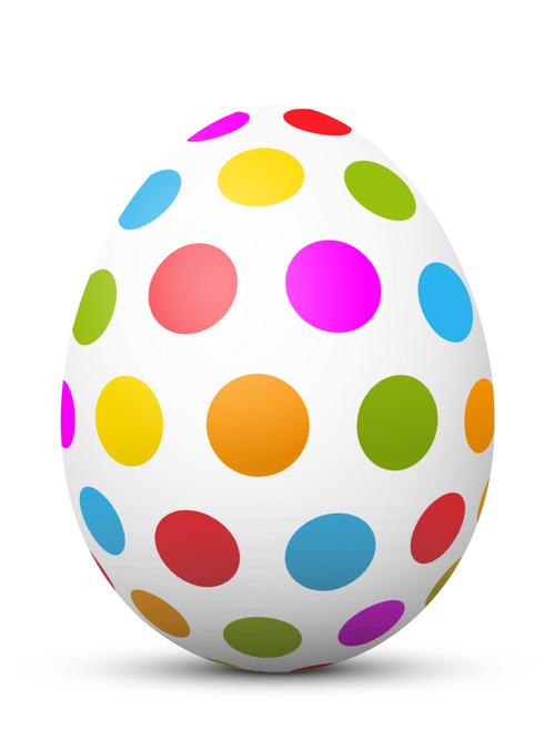 Påsk färgade dot ägg