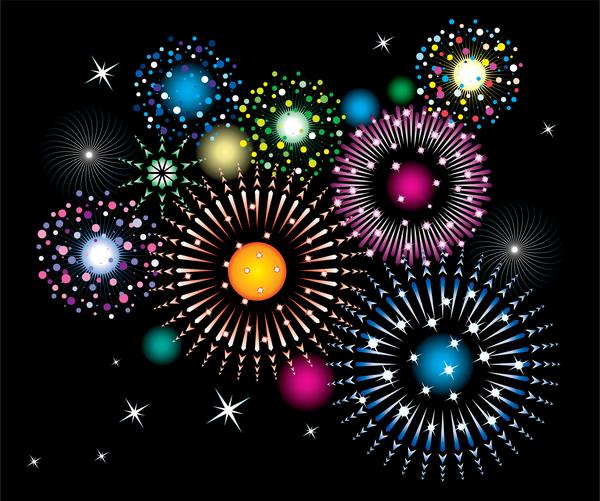 Feuerwerk farbig Effekt