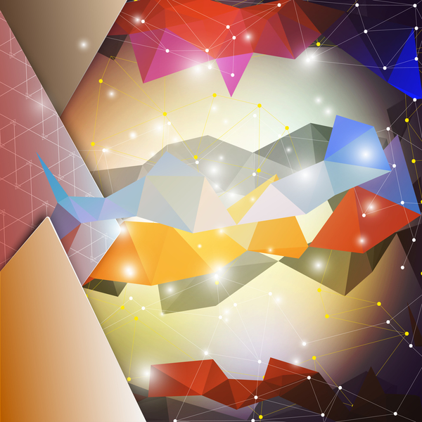 Punkte Linien gestalten geometrisch farbig