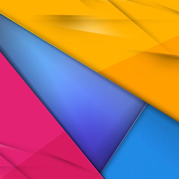 polygonale Geometrie farbig