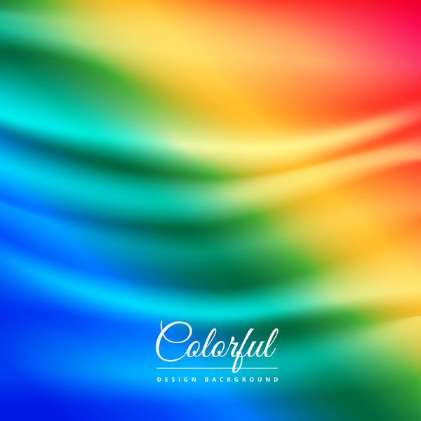 vågig gradient färgade