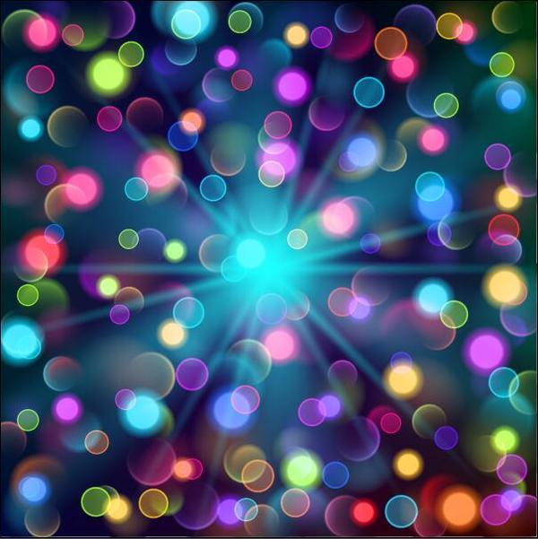 ljus färgade Cirklar