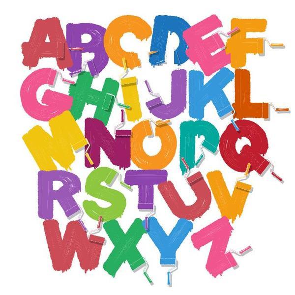 vernice colorata Pennello Alfabeto