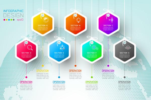 papper infographic färgat