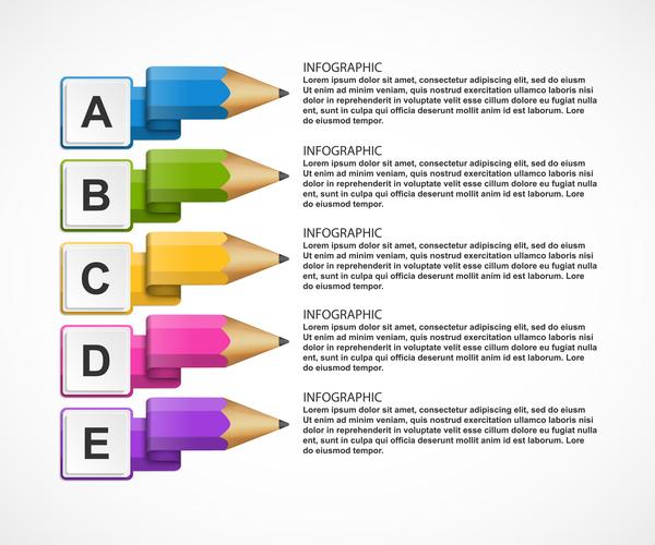 infographie Entreprise crayon Couleur