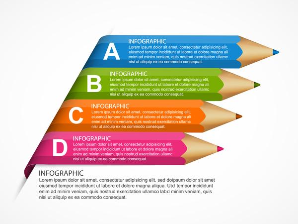 matita colorata infografica business