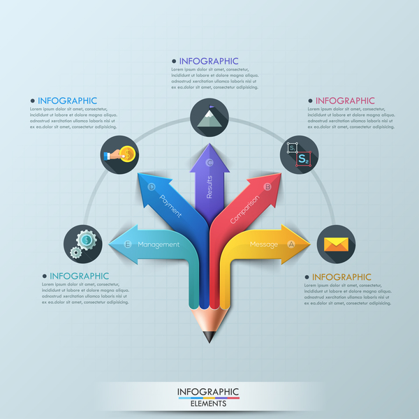 matita colorata infografica