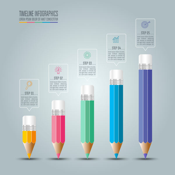 infographie crayon Couleur