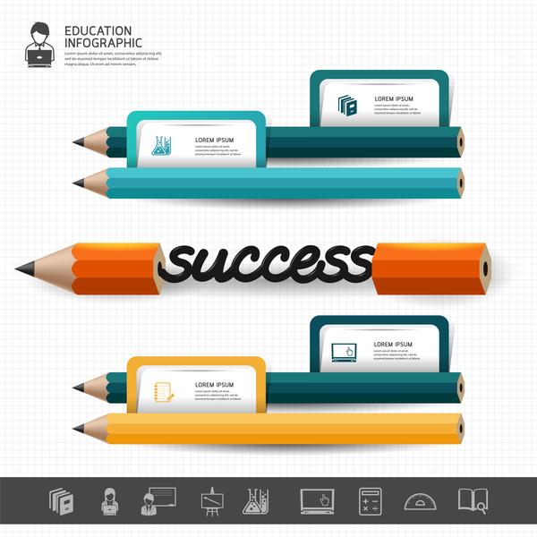 Infografik farbig Bleistift